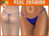 "String mesh panties ""Blue leather"""