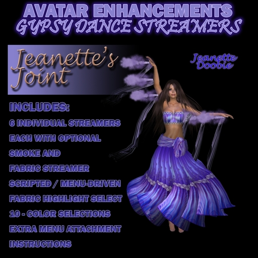 ~JJ~ Avatar Enhancements - Gypsy Dance Streamers