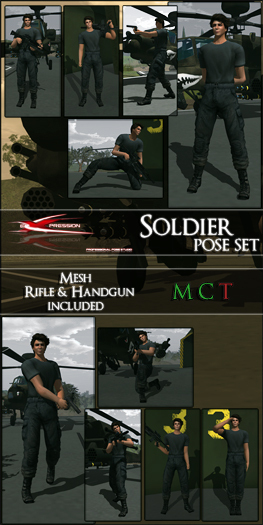 ::eXpression:: Poses - Soldier Pose Set