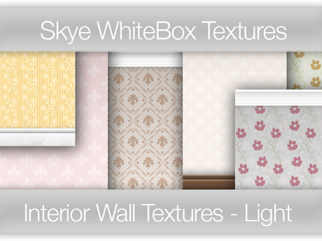 *Skye WhiteBox Textures - 112 Interior Wall [Light Tones] Full Perms Wall Textures