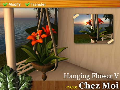 Hanging Flower V ♥ NEW Chez Moi