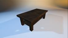 Mesh Coffee Table - Walnut Wood
