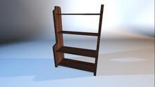 Mesh Walnut Wood Bookshelf
