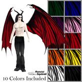 Arch Demon Wings - Ten Color Pack - Flexi Scripted Demon Wings