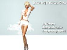 [satus Inc] White Lace Dress