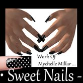 Long Nails 18 Colour Black on White Donts Metallic Nail Rock Collection