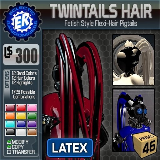 ER TwinTails Hair 'Latex'