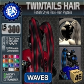 ER TwinTails Hair 'Waves'