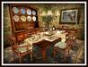 Dinner Party Vintage Oak Dining Set for 6 MESH
