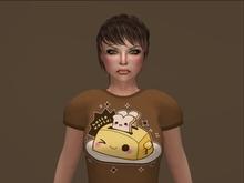 Cute Toaster T-shirt Brown