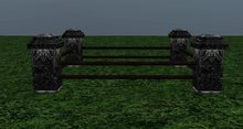Gothic Horse Stall Small Single - 3 prims - 5X5 Meters