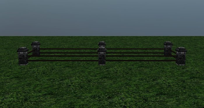 Gothic Horse Stall Double - 4 prims - 20X5 Meters