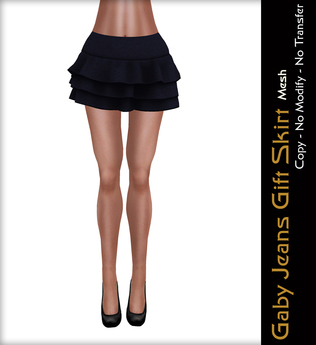 - Quintessencia - Gaby Jeans Gift Skirt Mesh -