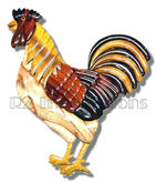 Wooden Rooster Kitchen Wall Art