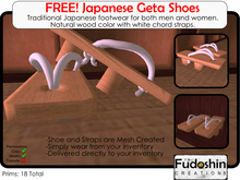 FREE! Geta Shoes - Traditional Japanese Footwear