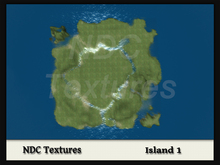 [NDC] Terrain Map - Island 1. Licenced for all compatible grids.