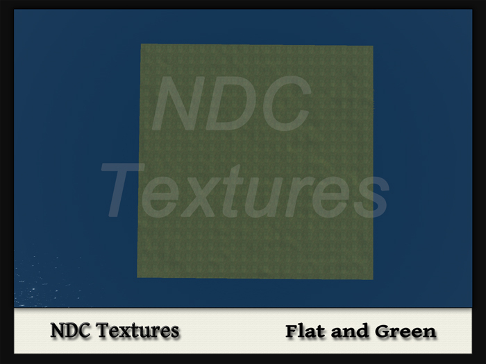 [NDC] Terrain Map - Flat and Green.  Licenced for all compatible grids.
