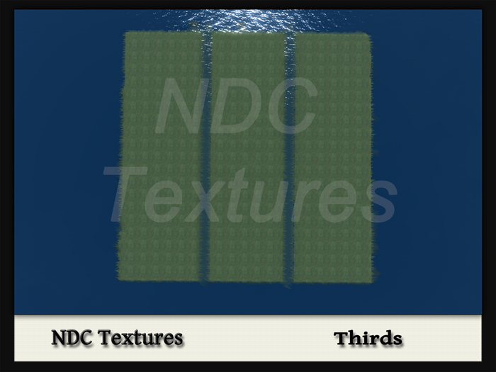 [NDC] Terrain Map - Thirds.  Licenced for all compatible grids.