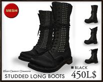 J's Studded Long boots (Black)