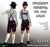 AB Oktoberfest Lederhosen for Men Purple