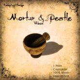 [DDD] Wooden Mortar & Pestle - 1 Prim only!