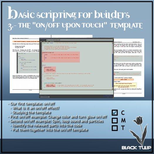 [Black Tulip] Class In A Box - Basic Scripting for Builders 03