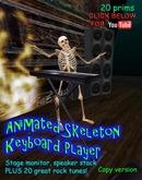 Animierte Tastatur spielen Skelett darunter 20 große Skelett Rock tunes!