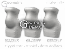 <Geometry> Sara Maternity Dress > DEMO ( rigged mesh in standard sizing )