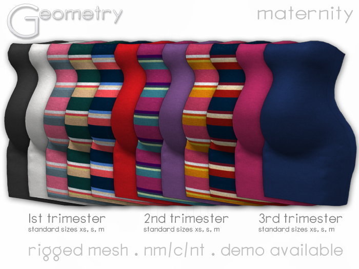 <Geometry> Sara Maternity Dress > All Colors ( rigged mesh in standard sizing )