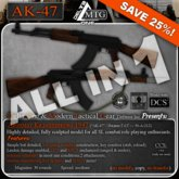 D1-MTG AK-47 + AK-47S + RPK, 3 in 1 set,  + RPCS/OSIRIS, CCS Enhanced + SAVE 25%!!!