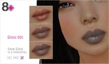 8+ // Makeup - Gloss 001 [Snow]