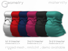 <Geometry> Emily Maternity Top > All Colors ( rigged mesh in standard sizing )