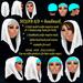 HIJAB 8/9 + headmask headband