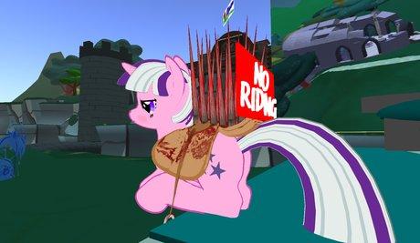 Anti-Riding Pony Saddle for EP (Mero) Pony avatars
