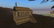 Moonshine Log Cabin 8 prim -