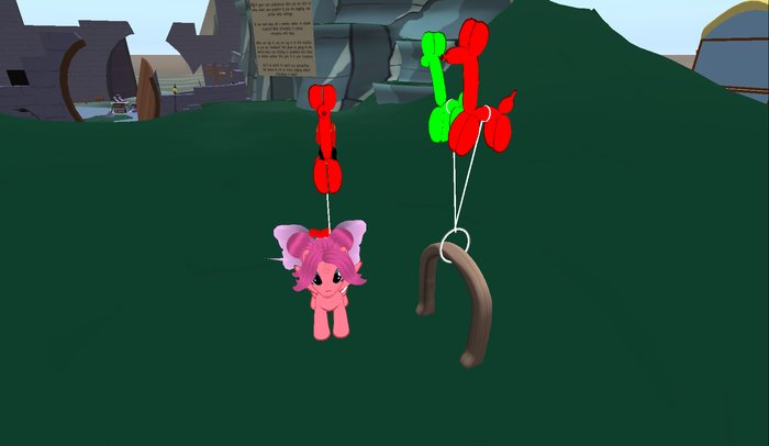 Balloon Giver for pony or other small quadruped avatars