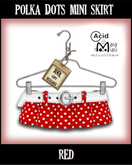 .:A&M:. Polka Dots Skirt - Red