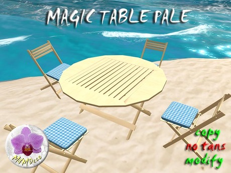Magic Folding Table Pale / Chair rezzer