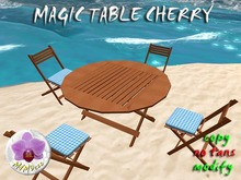 Magic Folding Table Cherry / Chair rezzer