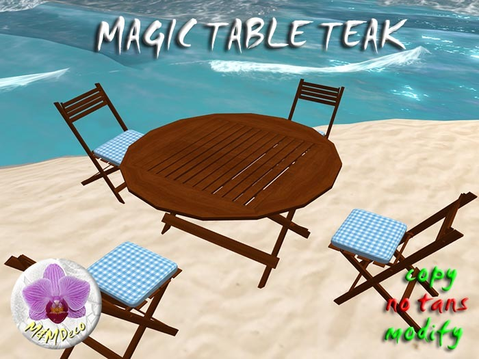Magic Folding Table Teak/ Chair rezzer