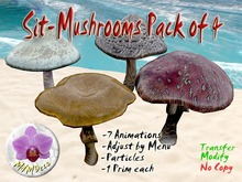 Mushroom Chair: Set of 4