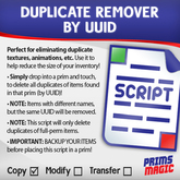 DUPLICATE REMOVER by UUID
