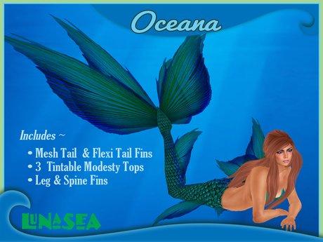 =LunaSea= Mermaid Tail - Oceana
