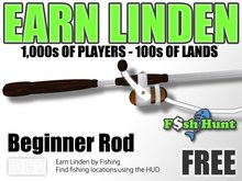 Linden Fish Hunter - Beginner Rod (White) - Earn Linden by hunting for fish