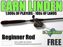 Linden Fish Hunter - Beginner Rod (Black) - Earn Linden by hunting for fish