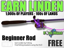 Linden Fish Hunter - Beginner Rod (Purple) - Earn Linden by hunting for fish