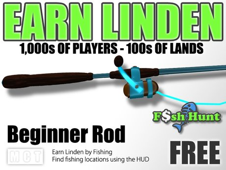 Linden Fish Hunter - Beginner Rod (Blue) - Earn Linden by hunting for fish