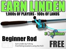 Linden Fish Hunter - Beginner Rod (Blue) - Earn Linden by hunting for fish