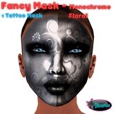 .:Glamorize:. Fancy Mask - Monochrome Floral -1 Mask Tattoo