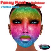 .:Glamorize:. Fancy Mask - Rainbow Glitter -1 Mask Tattoo